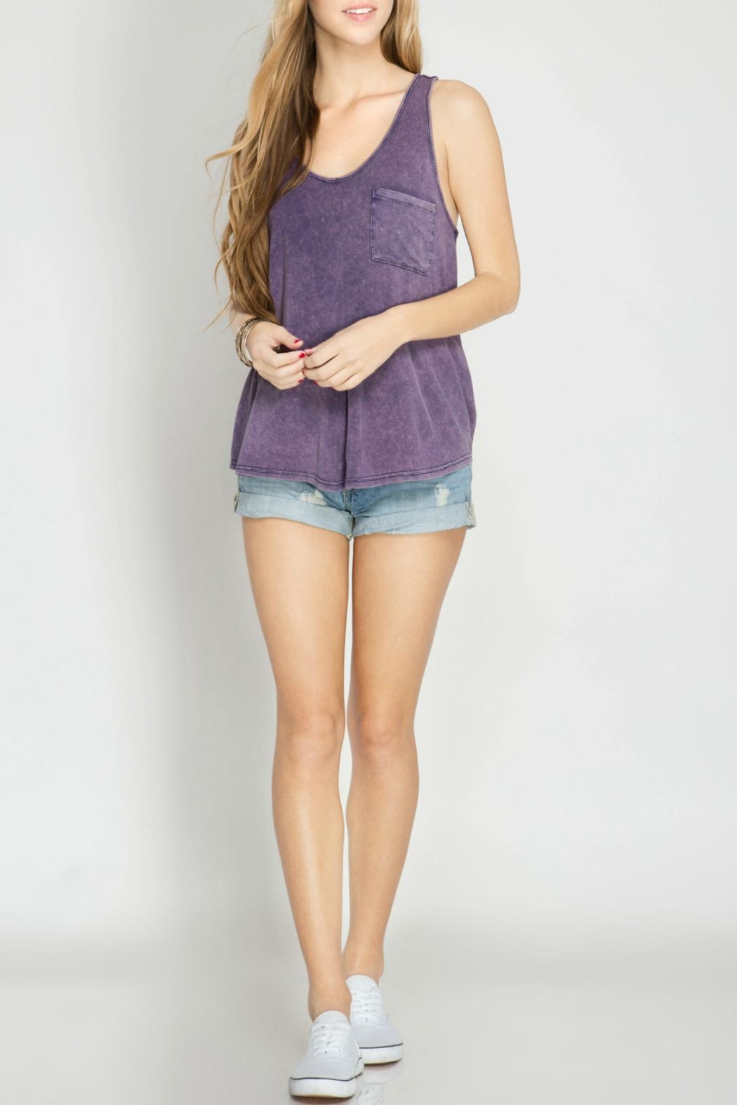 She + Sky Racer Back Tank Top - Main Image