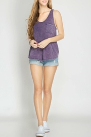 She + Sky Racer Back Tank Top - Product Mini Image