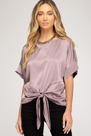 She + Sky Raine Top Rose - Front cropped