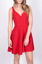 She + Sky Red Skater Dress - Product Mini Image