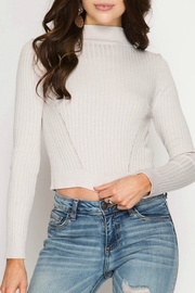 She + Sky Ribbed Crop Top - Product Mini Image