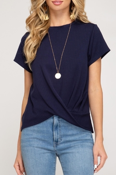 She + Sky Ribbed Knit Top - Product List Image