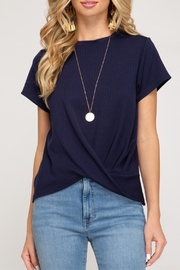 She + Sky Ribbed Knit Top - Product Mini Image