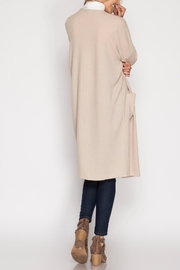 She + Sky Ribbed Midi Cardigan - Front full body