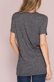 She + Sky Ribbed Pocket Top - Front full body