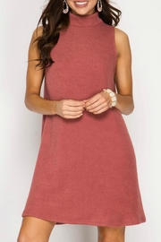 She + Sky Ribbed Shift Dress - Product Mini Image