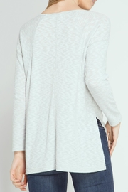 She + Sky Ribbed Top - Front full body