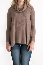 She + Sky Ribbed Cowl Neck Top - Product Mini Image