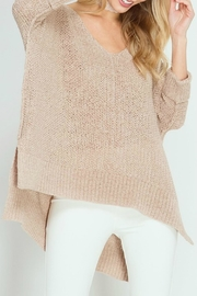 She + Sky Ribbon Stitch Sweater - Front cropped
