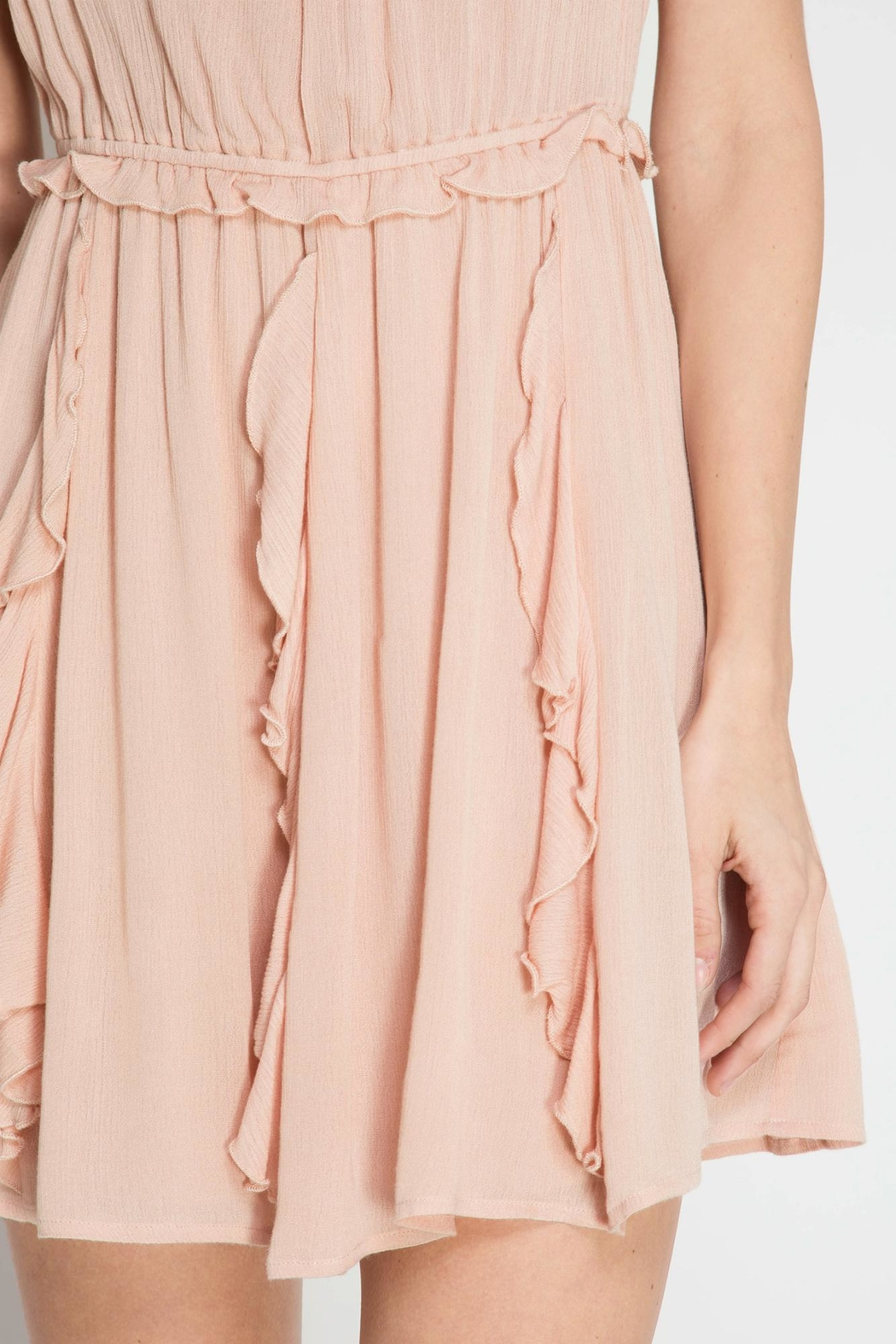 She + Sky Romantic Night Dress - Side Cropped Image