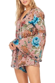 She + Sky Rose Floral Romper - Front full body