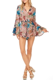 She + Sky Rose Floral Romper - Front cropped