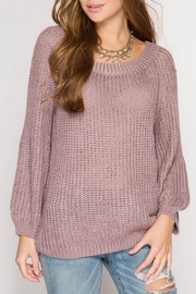 She + Sky Rose Knit Sweater - Product Mini Image