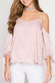 She + Sky Rose Satin Camisole - Front cropped