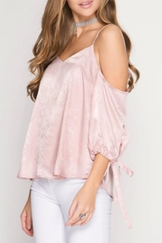 She + Sky Rose Satin Camisole - Side cropped