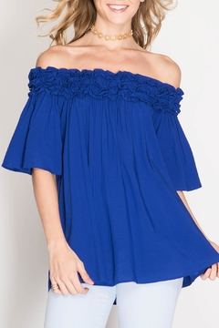 Shoptiques Product: Royal Off Shoulder Blouse