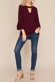 She + Sky Ruffle Blouse - Product Mini Image