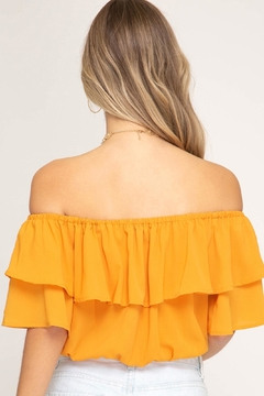 She + Sky Ruffle Crop Top - Alternate List Image