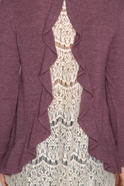 She + Sky Ruffle Lace Sweater - Other