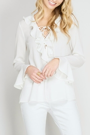 She + Sky Ruffle & Tie Blouse - Product Mini Image