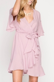 She + Sky Ruffled Wrap Dress - Product Mini Image
