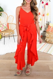 She + Sky Ruffled Wrap Jumpsuit - Side cropped