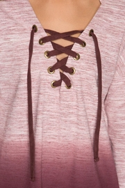 She + Sky Rylie Hoodie Burgundy - Back cropped