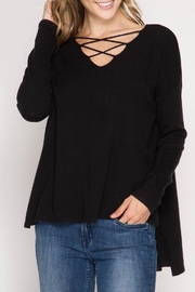 She + Sky Samantha Sweater - Front cropped