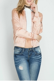 She + Sky Satin Bomber Jacket - Product Mini Image