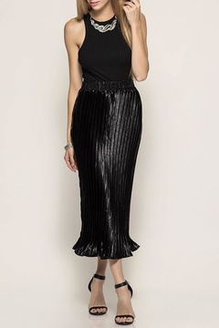 Shoptiques Product: Satin Pleated Skirt