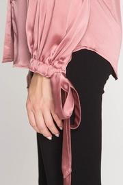 She + Sky Satin Tie Blouse - Side cropped