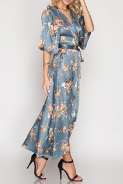 She + Sky Satin Wrap Dress - Product Mini Image