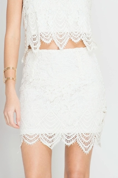 She + Sky Scallop Lace Mini Skirt - Product List Image