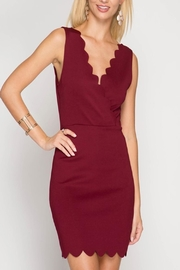 She + Sky Scalloped Cocktail Dress - Front cropped