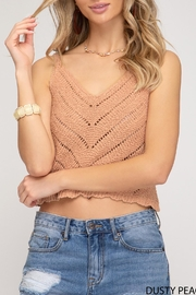 She + Sky Scalloped Knit Cami - Product Mini Image