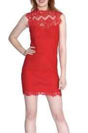 She + Sky Scalloped Lace Dress - Front full body