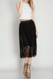 She + Sky Scalloped Lace Midi-Skirt - Product Mini Image