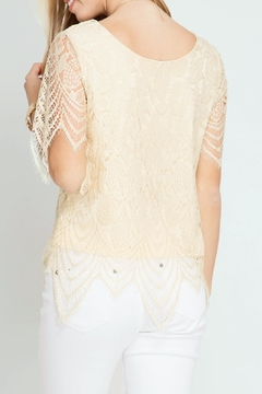She + Sky Scalloped Lace Top - Alternate List Image