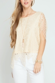 She + Sky Scalloped Lace Top - Product Mini Image