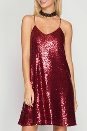 She + Sky Sequin Dress - Front cropped