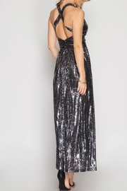 She + Sky Sequin Maxi Dess - Back cropped
