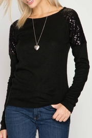 She + Sky Sequin Shoulder Top - Product Mini Image