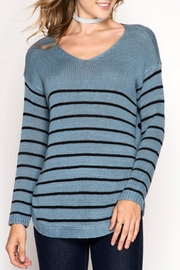 She + Sky Side Buttone Sweater - Product Mini Image
