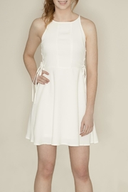 She + Sky Side Lace Dress - Front full body