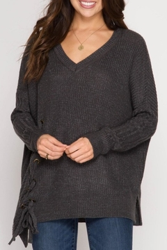 Shoptiques Product: Side Lace Up Pullover