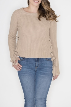 She + Sky Side Lace Up Sweater - Product List Image