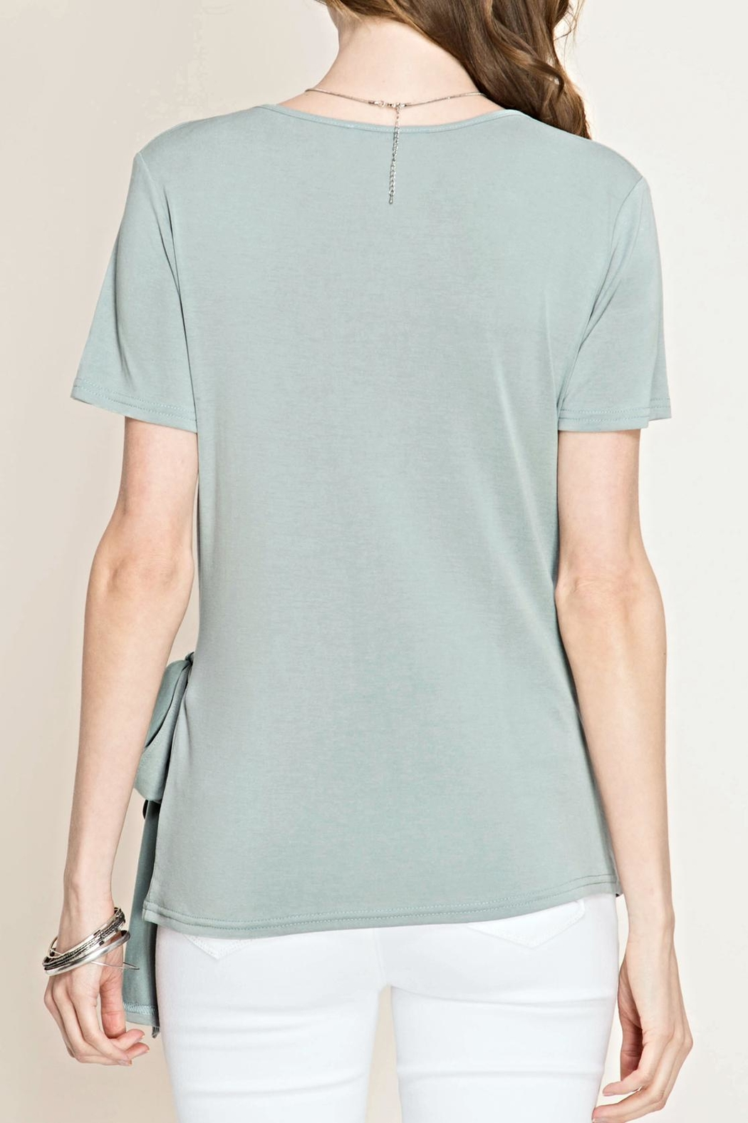 She + Sky Side Tie Top - Front Full Image