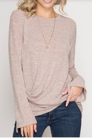She + Sky Sleeve Detail Top - Front cropped