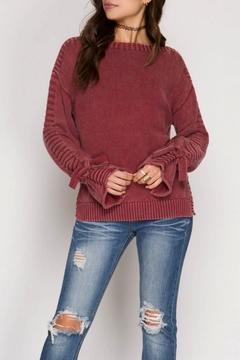 Shoptiques Product: Sleeve Tie Sweater