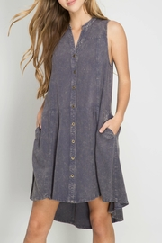 She + Sky Sleeveless Button Front Dress - Product Mini Image
